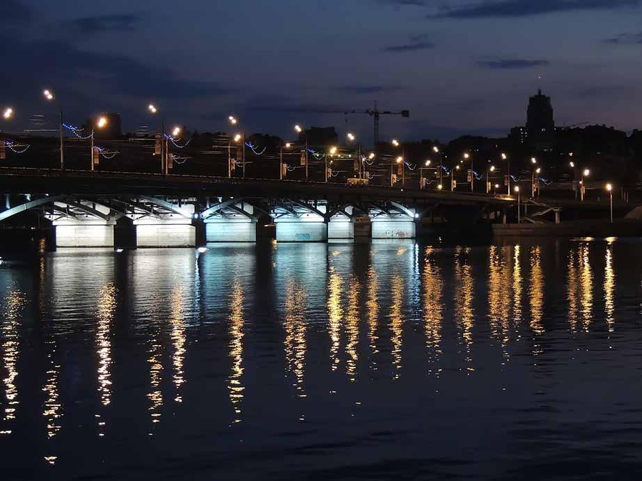 Night Bridge in Voronezh